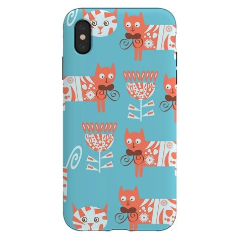 Designers Phone Cases for iPhone Xs Max Cats walking by Luizavictorya72. Art and Protection. Support living artists. AC-00385539