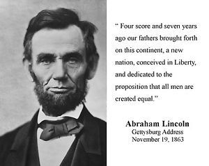 Freedom Of Speech Quotes Pleasing President Abraham Lincoln Quote Gettysburg Address Speech 8 X 10