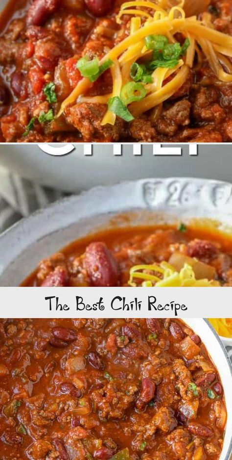 This is an easy Chili Recipe made with ground beef and beans. It's thick hearty and delicious! #spendwithpennies #chili #chilirecipe #chilibeans #chiliwithbeans #fastchili #SlowCookerMeatrecipes #ChristmasMeatrecipes #MeatrecipesForACrowd #PorkMeatrecipes #SouthernMeatrecipes