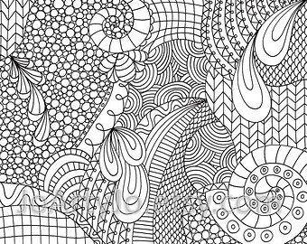 Zendoodle Coloring Page Printable Pdf Zentangle Inspired Page 11 Coloring Pages Detailed Coloring Pages Original Ink Drawing