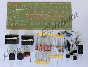 Kit Placa Componentes Para Montar Amplificador 200w Rms Audio