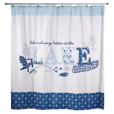The Avanti Lake Life Shower Curtain Is A Charming Way To Tie