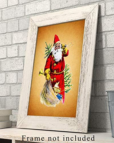 African American Christmas Wall Art Print Vintage 8x10 Unframed Photo Perfect Easy Gift Chic Home Decor Christmas Wall Art Wall Art Prints Christmas Art