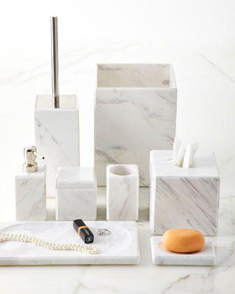 Waterworks Studio Marble Vanity Accessories Marble Bathroom Accessories Gray Bathroom Accessories Marble Vanity