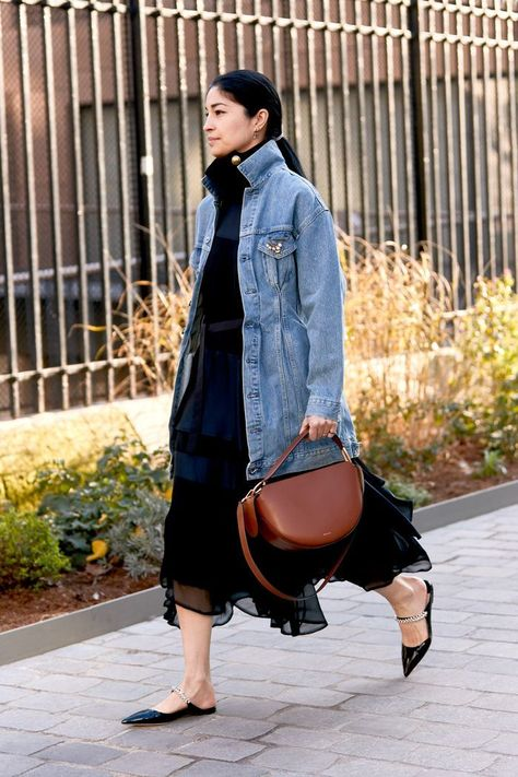 11 Denim Outfits Women Over 40 Are Wearing in Paris