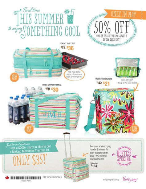 Thirty-One May 2014 Special! Great deals on thermals! I love this special! Www.muthirtyone.com/304304/