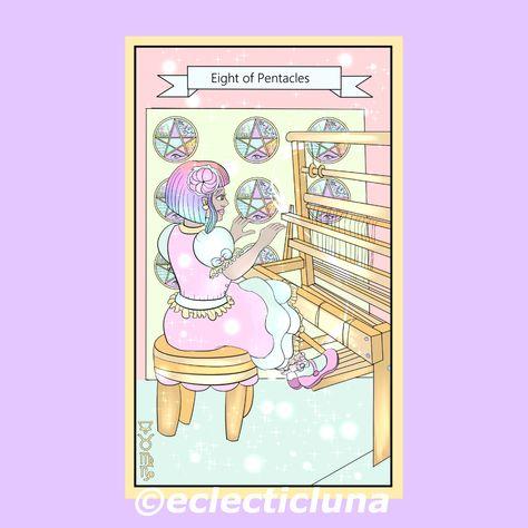 #eightofpentacles #eightofpentaclestarotcard #tarotcards #tarotdeck #tarologia #tarotadvice #tarotart #tarotartist #tarotaddict #tarotadistancia #cutetarot #kawaiitarot #mytarot #tarotdrawing #tarotlesson #tarotmagick #witch #witches #witchcraft #witchaccessories #divination #witchart #witchvibes #digitalart #digitalillustration #artwitch