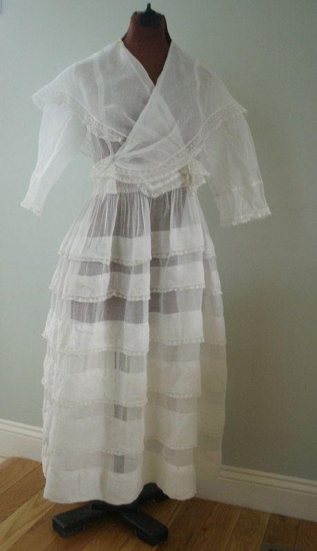 Antique Petticoat with Ruffles Circa 1900