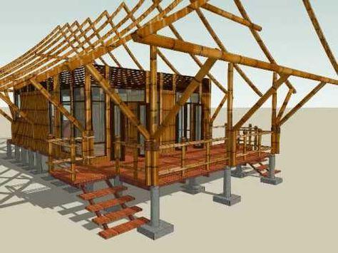 Casa Indígena Palafitica En Madera Y Bambú Guadua Youtube Estructura De Bambú Casas En Bambu Construccion En Seco Casas
