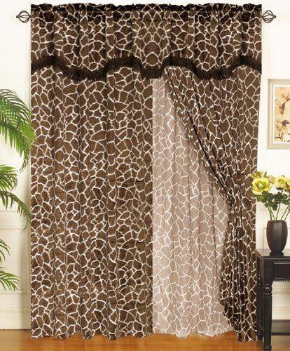 Robot Check Curtains Giraffe Decor Leopard Print Furniture