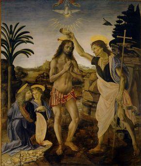 10 Obras De Leonardo Da Vinci Bautismo De Cristo Leonardo Da Vinci Arte Obras De Arte