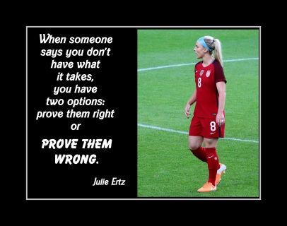 Julie Ertz Prove Them Wrong Soccer Quote Poster Uswnt Motivational Wall Art Gift Arleyart Com In 2020 Inspirational Soccer Quotes Soccer Inspiration Soccer Quotes Girls