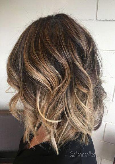 46 Trendy Haarfarbe Balayage Brunette Ombre Lange Bobs Haar Ombrebobhair In 2020 Short Hair Balayage Hair Color Auburn Balayage Brunette