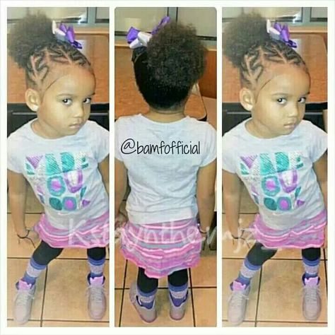 Pin By Laquita Kendall On Kenzie Hair Toddler Hair Lil Girl Hairstyles Hair Dos For Kids