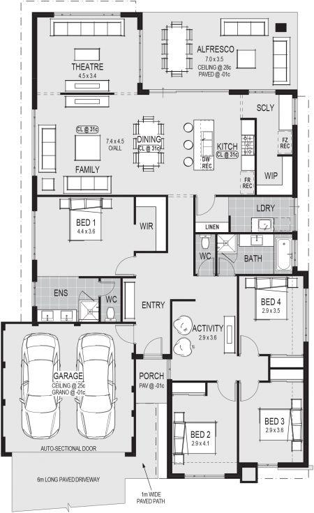 Marrakech Display Home - Lifestyle Floor Plan Floor plans - copy garage blueprint maker