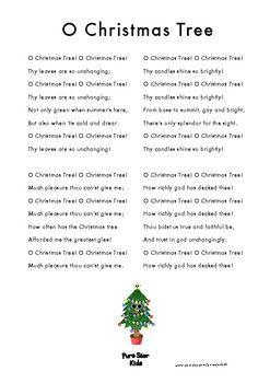 O Christmas Tree Christmas Song Sheet Lyrics Christmas Lyrics Free Christmas Songs Song Sheet