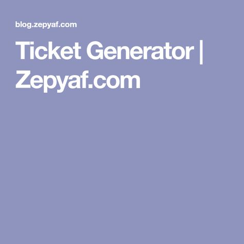 Más de 25 ideas increíbles sobre Ticket generator en Pinterest - concert ticket maker