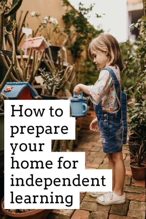 How To Prepare Your Home For Independent Learning — THE PEACEFUL PRESS