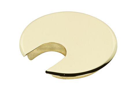 1 3 4 Solid Brass Desk Grommet Cap Solid Brass Metal Grommets Brass Desk