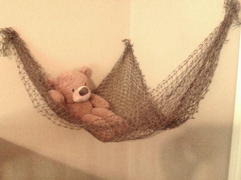Nautical... Baby stuffed animal net from fishing net