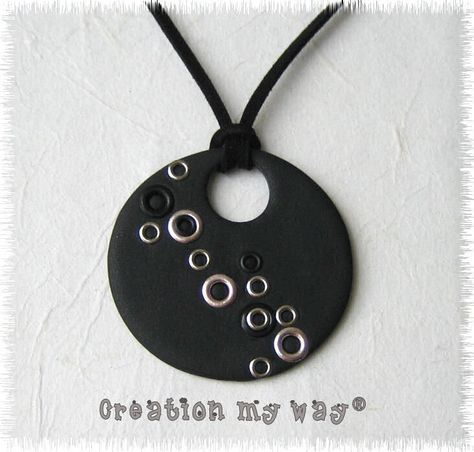 Fimo disc necklace - my way creation -