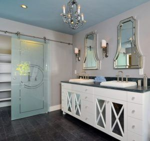 A bathroom with two vanities is perfect for every couple.