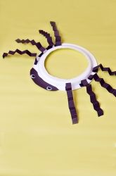 Spider Hat use for Itsy Bitsy Spider or Very Busy Spider- Paint plate black