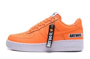 Mens Womens Nike Air Force 1 Low Just Do It Total Orange White