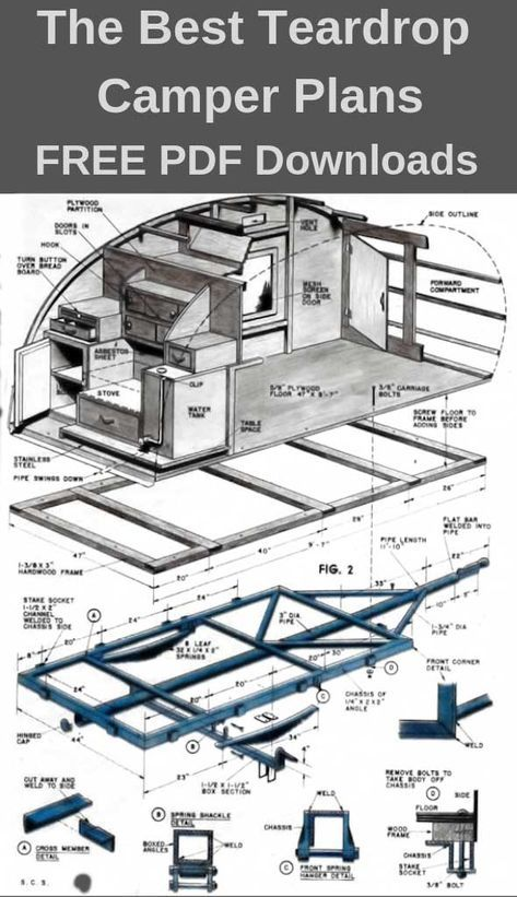 teardrop camper plans – 11 free diy trailer designs pdf