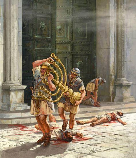Stolen menorah in Jerusalem 70 AD