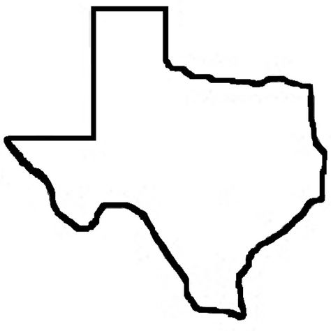 State Of Texas Map Outline.Pinterest