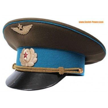 68eae29fa Russian Air Force Officer visor hat GAGARIN Soviet aviation | Cascos ...