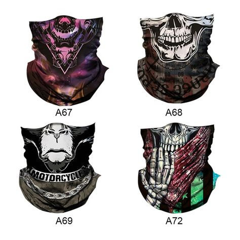 Bicycle seamless skull Headband Neck Warmer Cycling Face Mask 3D Bike Head Scarf Bandana Scarves turban Mask for Outdoor Sports Review