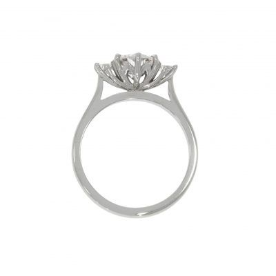 Platinum Protea Flower Engagement Ring Engagement Rings Rings Jewelry