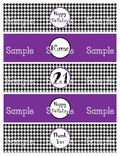 Printable MM The Fabulous S Water Bottle Label Wrappers
