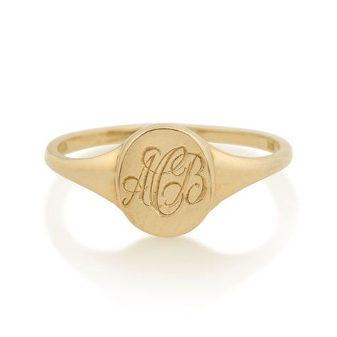 Vale Jewelry Skinny Signet Ring 14k Gold