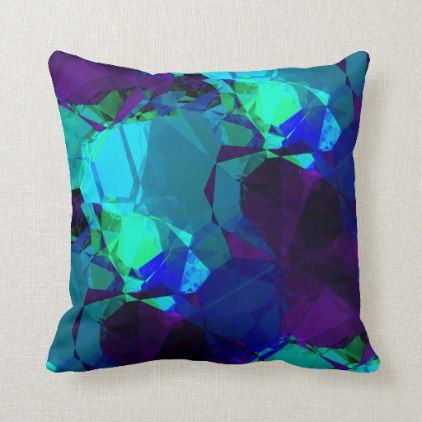Turquoise Blue Purple Elegant Abstract Pattern Throw Pillow Zazzle Com Abstract Throw Pillow Throw Pillows Patterned Throw Pillows