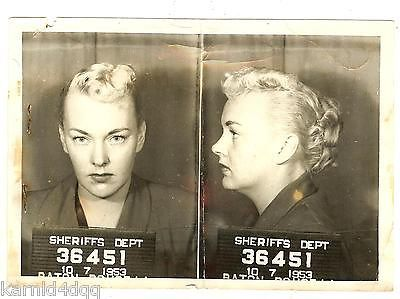 Vintage Woman Lady Prostitute Mug Shot Photo Photograph Police - 15 vintage bad girl mugshots from between the 1940s and 1960s