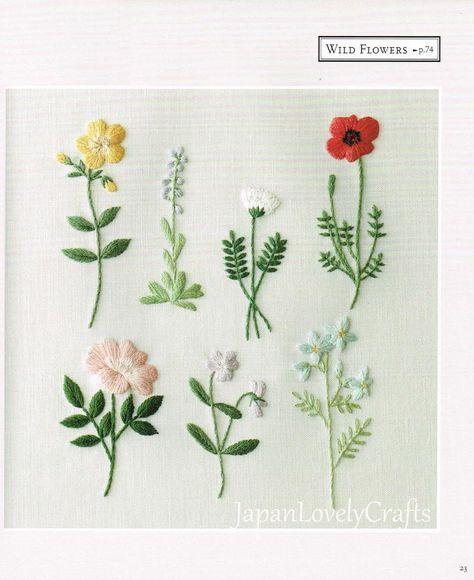 Plants & Flower Embroidery Patterns Natural Zakka Style   Etsy