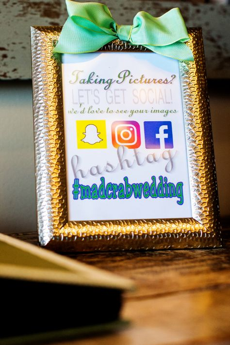 Share your wedding hashtag with your guests so that they can share their photos with you! | Photo: Michelle Arlotta