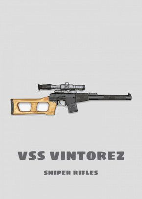Vss Vintorez Metal Poster Dk Artwork Displate In 2020 Vss Vintorez Army Poster Metal Posters