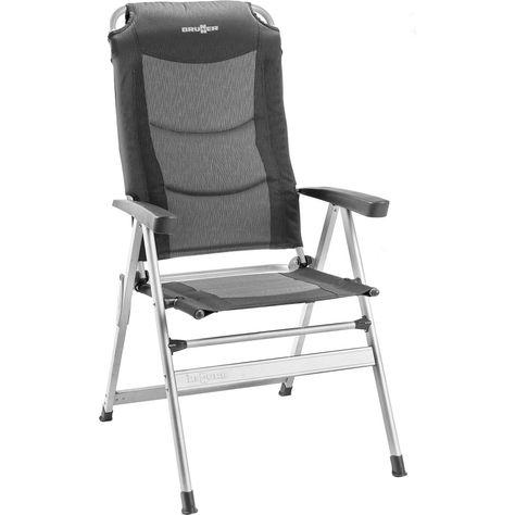Chaise De Camping Brunner Kerry Slim Grise Noire Des Meubles Colores Chaises De Camping Et Camping