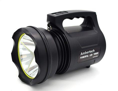Ambertech 10000 Lumens Lanterne Robuste Torche Led Puissante Lampe De Poche Rechargeable Projecteur Ex Torche Led Projecteur Exterieur