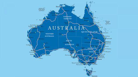 Mapa De Carreteresas De Australia Australia Mapas Continentes