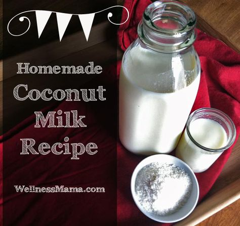 Homemade Coconut Milk Recipe from Wellness Mama Simple and cheap Homemade Coconut Milk