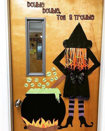 70 Witty Halloween Classroom Door Decorations For Halloween Class Party Halloween Classroom Door School Door Decorations Halloween Door Decorations