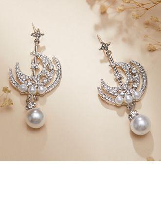 "JJsHouse Earrings Alloy Rhinestones Imitation Pearls Pierced Unique 2.76\""(Approx.7cm) 1.18\""(Approx.3cm) Drop Earrings Wedding & Party Jewelry. #JJsHouse #Earrings #Alloy #Rhinestones #ImitationPearls #Pierced #Unique #DropEarrings #Wedding&PartyJewelry"
