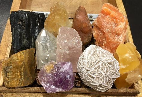 New Healing Crystal Collection Stone Kit Set 12 Natural Stones Pol Gemstone F6F3