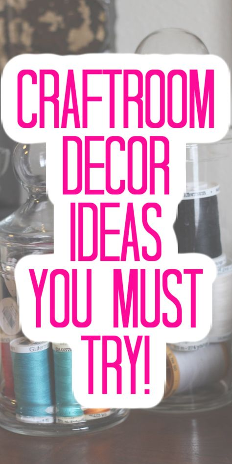 Looking for ideas for your craftroom! Look no further! We have great ideas for decor for your space that will really wow! #craftroom #decor #homedecor