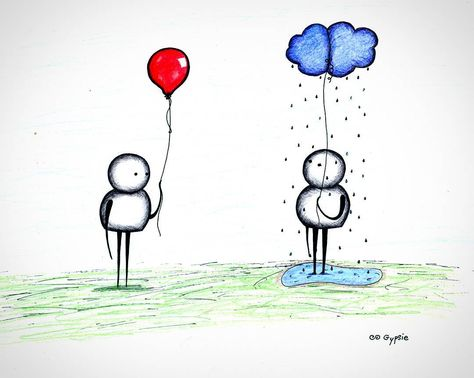 This piece and others being added regularly to www.gypsieraleigh.com. Original: AVAILABLE #GypsieRaleigh #artaddict #sadart #cuteart #cutesketch #sketch #sketches #balloon #personalcloud #sadworld #differentlives #sadballoon #itsneveraseasyasjustlettinggo